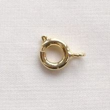 Gold Plated 7mm Bolt Ring - 10